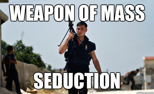 weapon of mass seduction - Ridiculously Photogenic Syrian Soldier