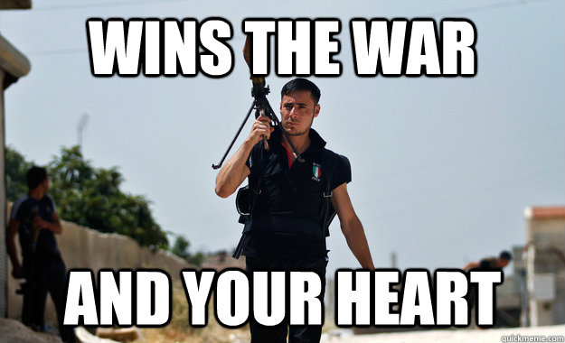 wins the war and your heart - Ridiculously Photogenic Syrian Rebel Fighter