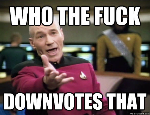 who the fuck downvotes that - Annoyed Picard HD