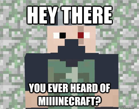 hey there you ever heard of miiiinecraft - ETHO IT