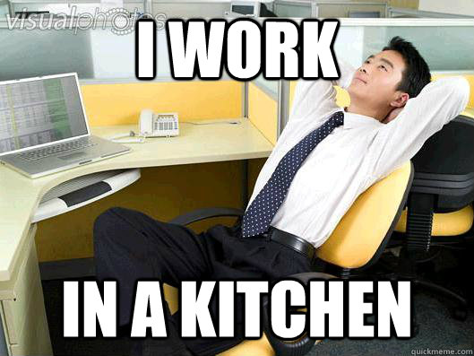 i work in a kitchen - Office Thoughts