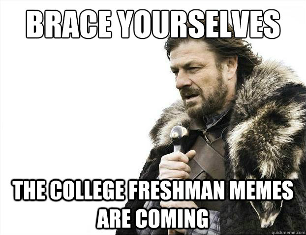 brace yourselves the college freshman memes are coming - Brace Yourselves - Borimir