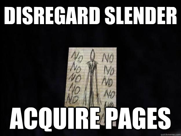 disregard slender acquire pages -