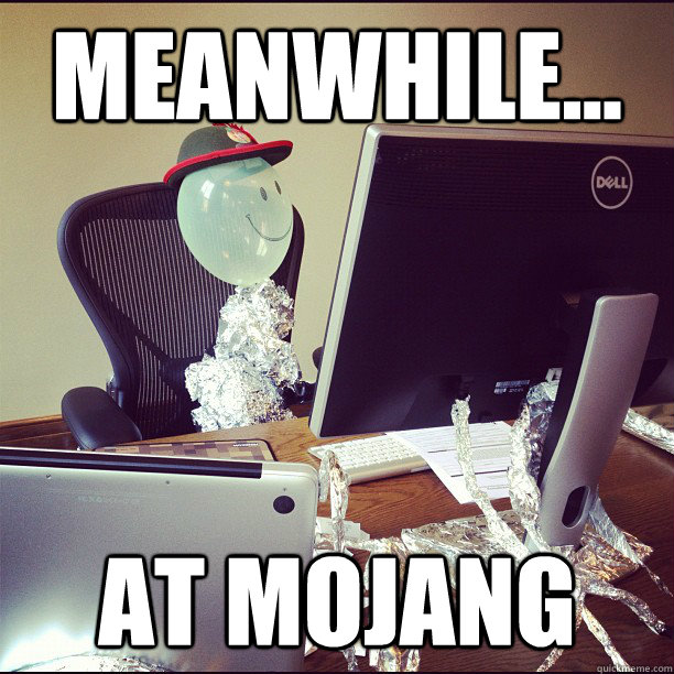 meanwhile at mojang - Balloon-Man Manneh