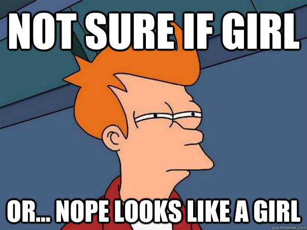 not sure if girl or nope looks like a girl - Futurama Fry