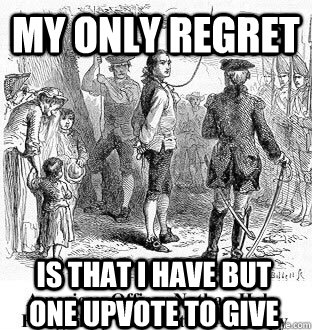 my only regret is that i have but one upvote to give -