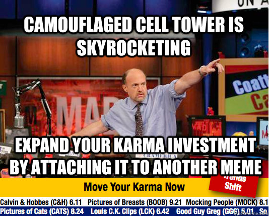 camouflaged cell tower is skyrocketing expand your karma inv - Mad Karma with Jim Cramer