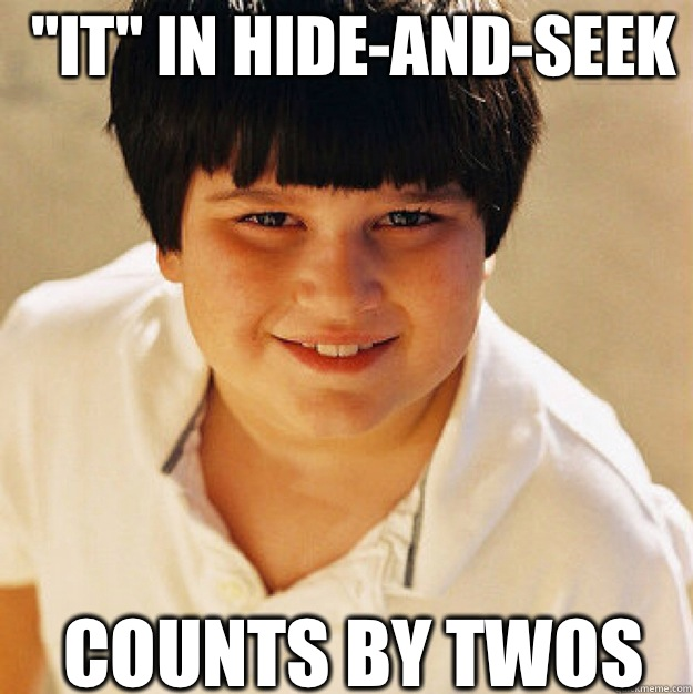 IT in hideandseek Counts by twos  - Annoying Childhood Friend Square