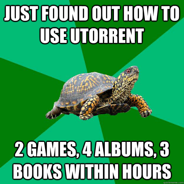 just found out how to use utorrent 2 games 4 albums 3 book - Torrenting Turtle