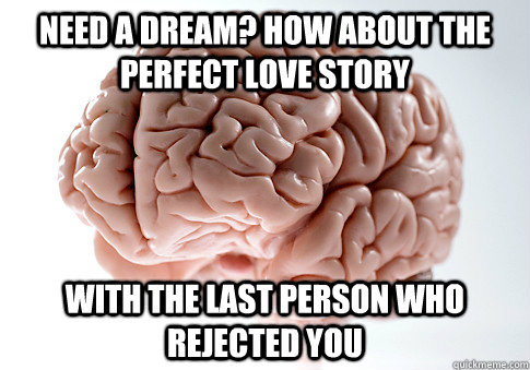 need a dream how about the perfect love story with the last - Scumbag Brain