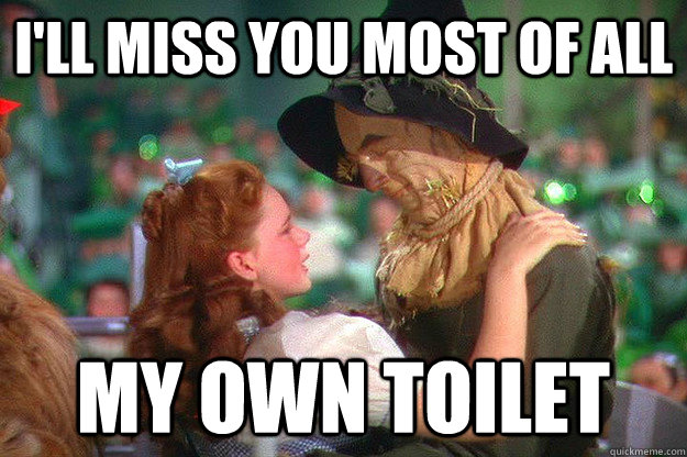 ill miss you most of all my own toilet - 
