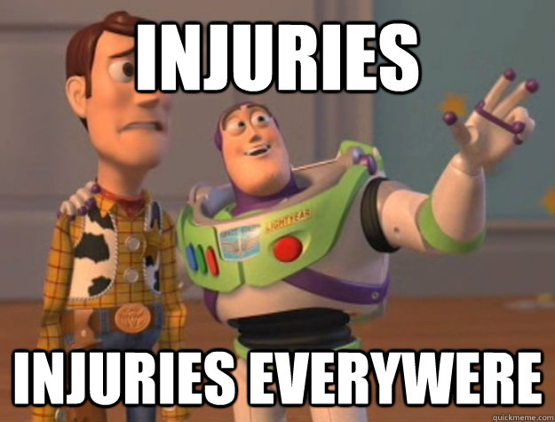 injuries injuries everywere - Buzz Lightyear