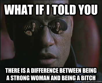 what if i told you there is a difference between being a str - Morpheus SC