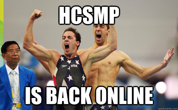 hcsmp is back online  -