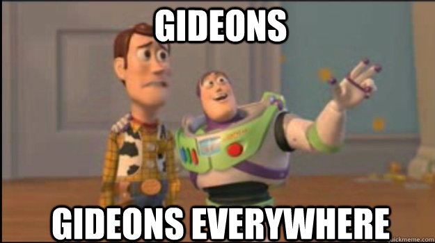 gideons gideons everywhere - Buzz and Woody