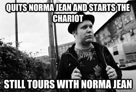 quits norma jean and starts the chariot still tours with nor - Good Guy Josh Scogin
