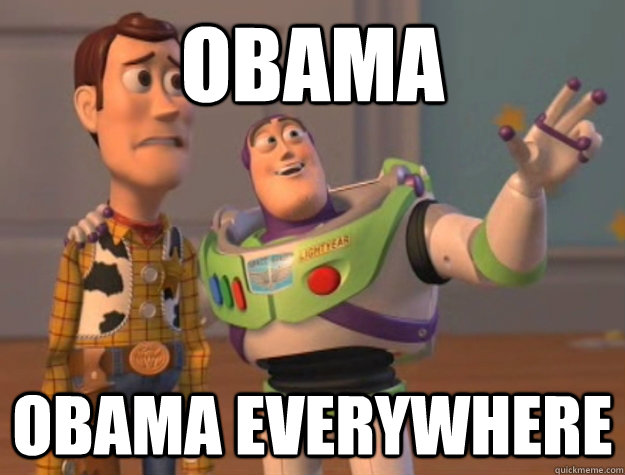 obama obama everywhere - Buzz Lightyear