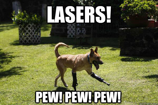 lasers pew pew pew - Laser Dog