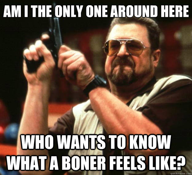 am i the only one around here who wants to know what a boner - Big Lebowski