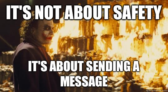 Its not about the coupons Its about sending a message - burning joker