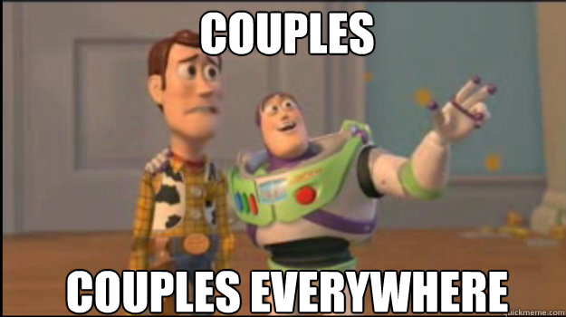 couples couples everywhere - Buzz and Woody