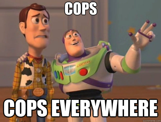cops cops everywhere - Toy Story