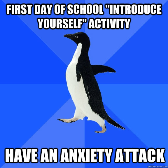 first day of school introduce yourself activity have an an - Socially Awkward Penguin