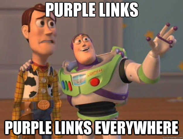 purple links purple links everywhere - Toy Story