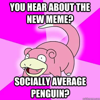 you hear about the new meme socially average penguin - Slowpoke