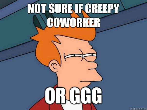 not sure if creepy coworker or vanilla ice - Futurama Fry