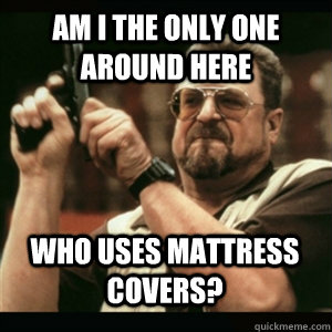 am i the only one around here who uses mattress covers - AM I THE ONLY ONE AROUND HERE