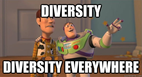 diversity diversity everywhere  - Toy Story Everywhere