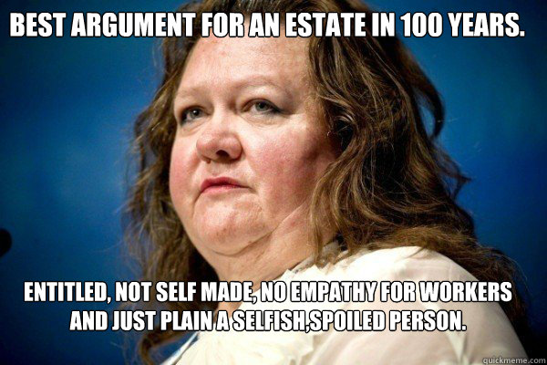 best argument for an estate in 100 years entitled not sel - Spiteful Billionaire