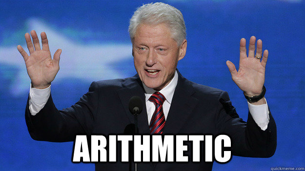 arithmetic - Bill Clinton DNC 2012