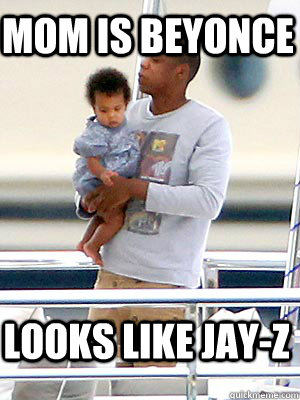 mom is beyonce looks like jayz - 
