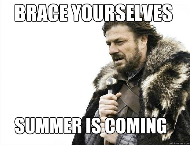 brace yourselves summer is coming - BDAY BRACE
