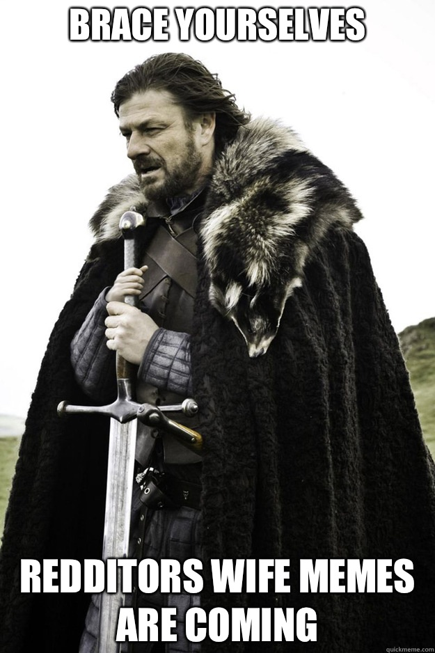BRACE YOURSELVES Redditors wife memes are coming - Brace Yourselves Fathers Day