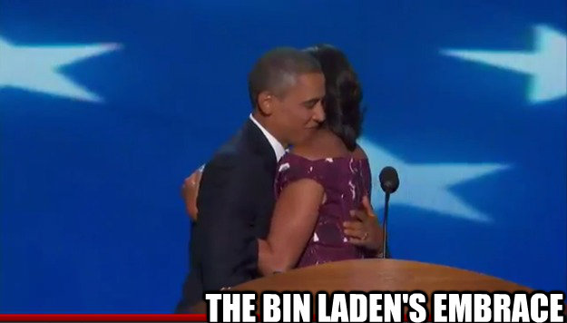 the bin ladens embrace - Obama Bin Laden