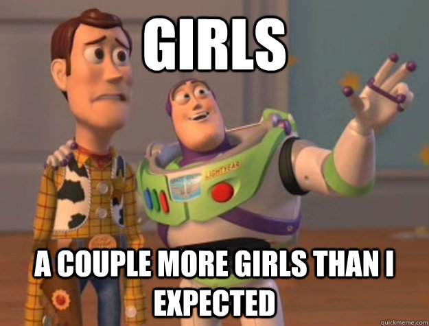 girls a couple more girls than i expected - Buzz Lightyear