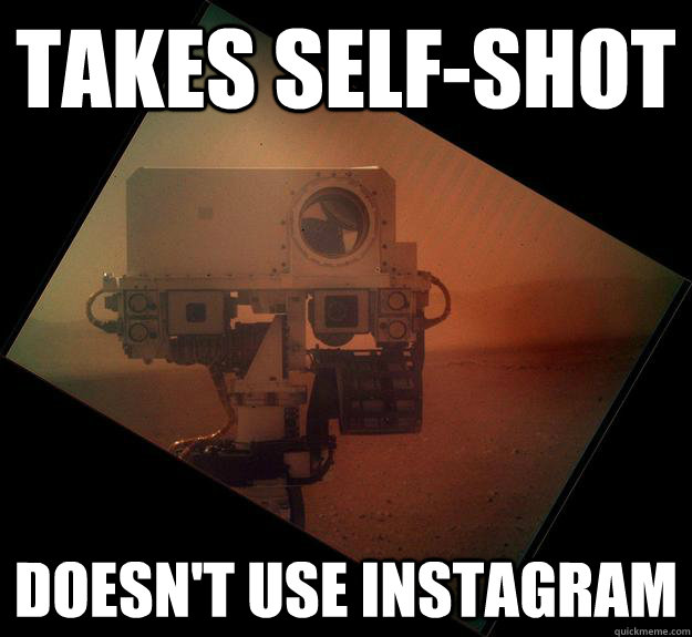 takes selfshot doesnt use instagram - Good Guy Curiosty