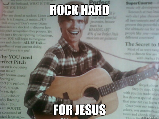 rock hard for jesus - creepy guitar guy