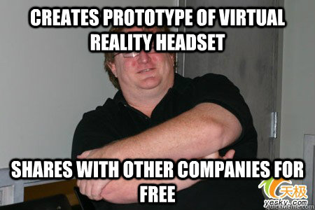 creates prototype of virtual reality headset shares with oth - Good Guy Gaben