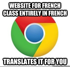 website for french class entirely in french translates it fo -