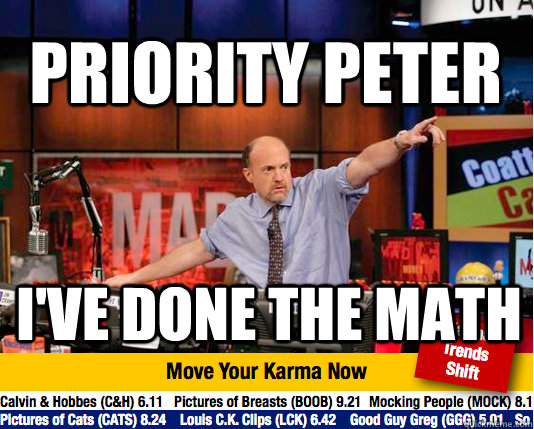 priority peter ive done the math - Mad Karma with Jim Cramer