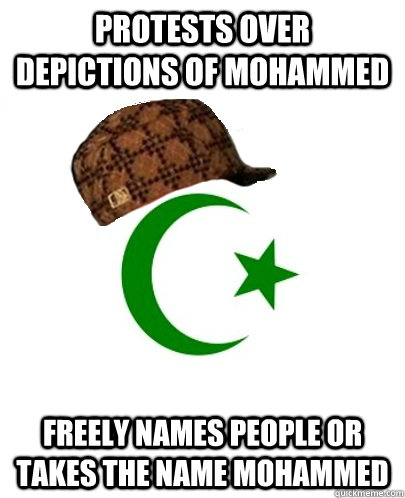 protests over depictions of mohammed freely names people or  -