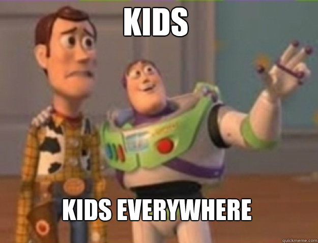 kids kids everywhere - buzz lightyear