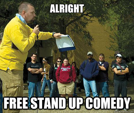 alright free stand up comedy -