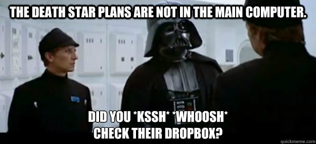 the death star plans are not in the main computer did you  - Stars Wars in the Cloud