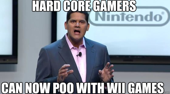 hard core gamers can now poo with wii games -