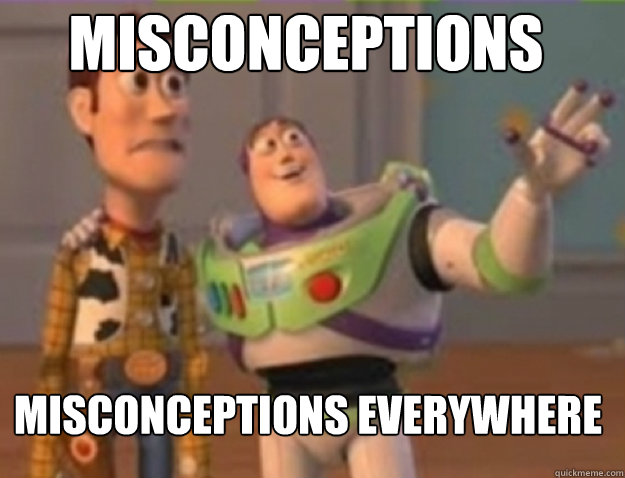 misconceptions misconceptions everywhere - buzz lightyear